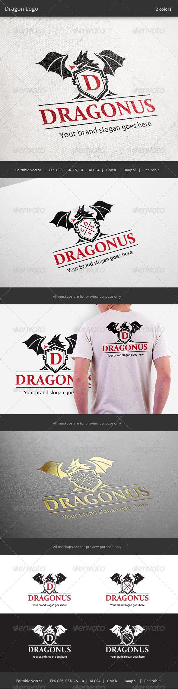 Dragon Letter V4 Logo