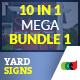10 In 1 Real Estate Yard Signs Mega Bundle 1 - GraphicRiver Item for Sale