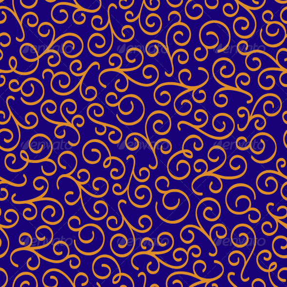 Eastern Seamless Floral Pattern