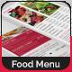 Bi-Fold Food Menu Template | 2 - GraphicRiver Item for Sale