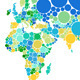 Abstract Dot World Map With Countries - GraphicRiver Item for Sale