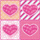 Set Of Hearts On The Graphic Background. - GraphicRiver Item for Sale