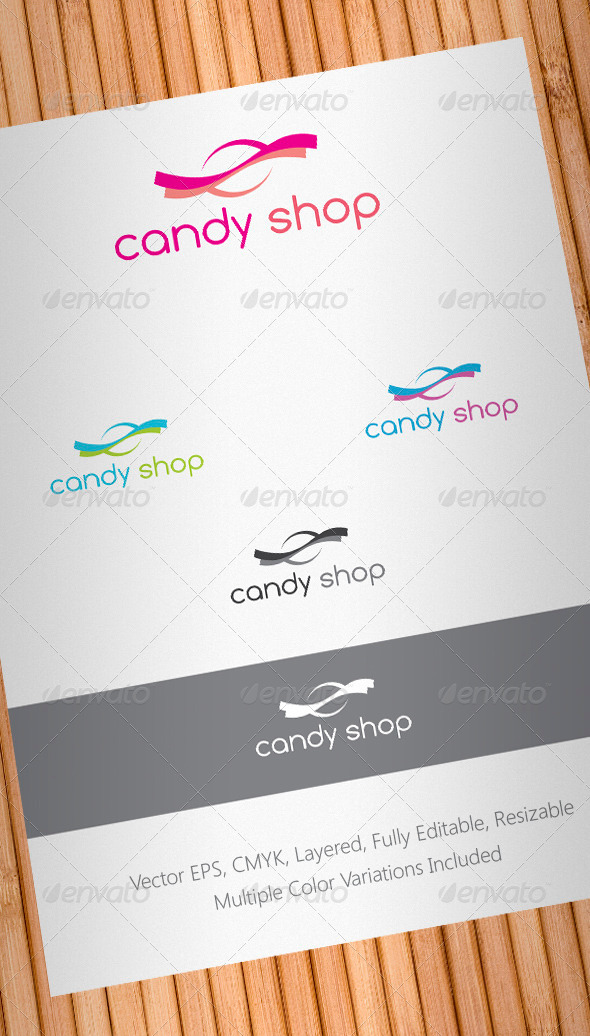 Candy Shop Logo Template