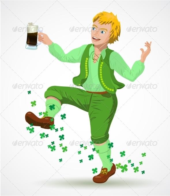 Joyful Jumping Leprechaun