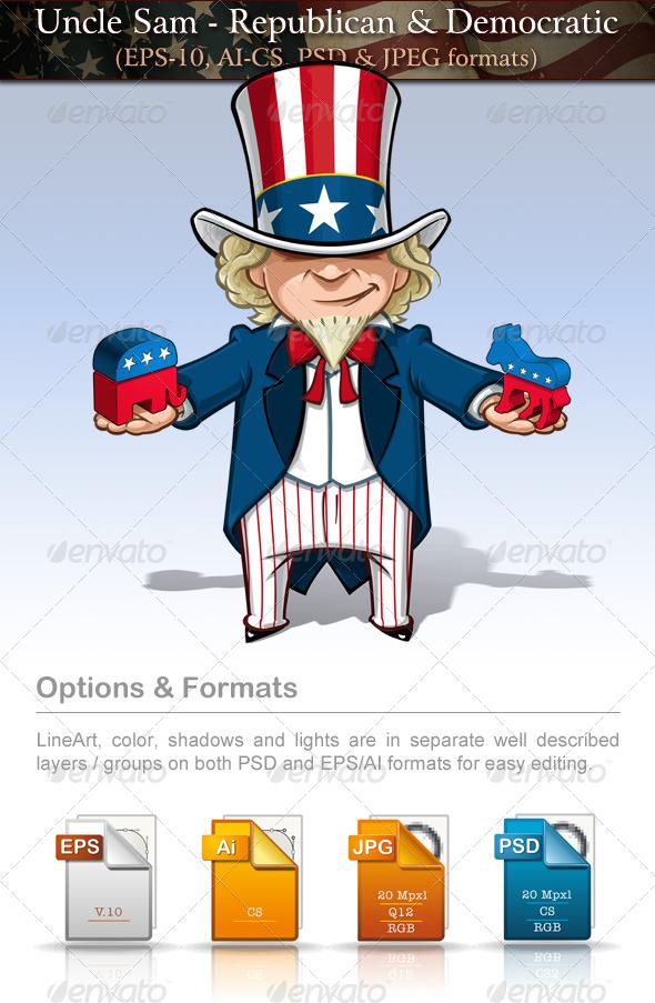 Uncle Sam Republican & Democratic