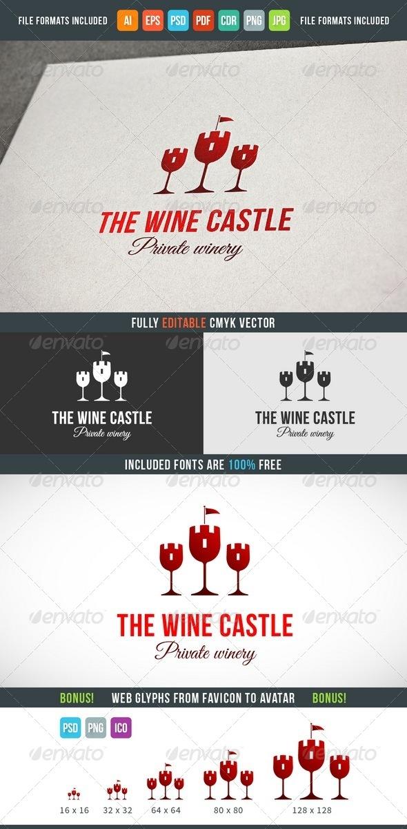 Wine Castle Logo Template