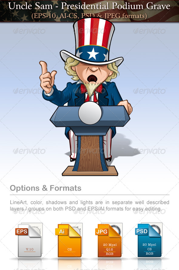 Uncle Sam - Presidential Podium Grave