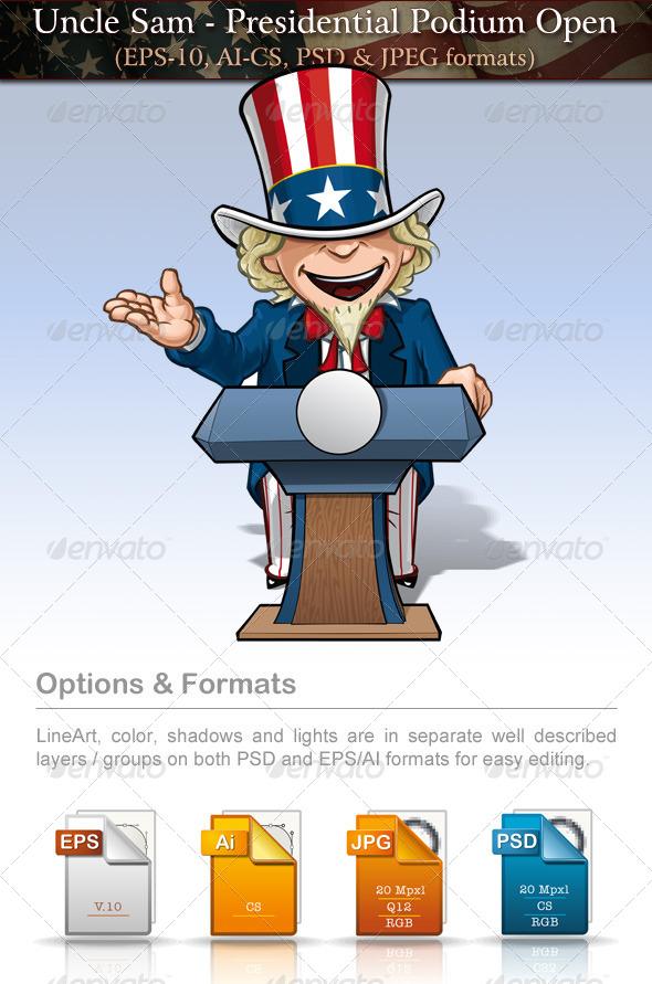 Uncle Sam - Presidential Podium Open