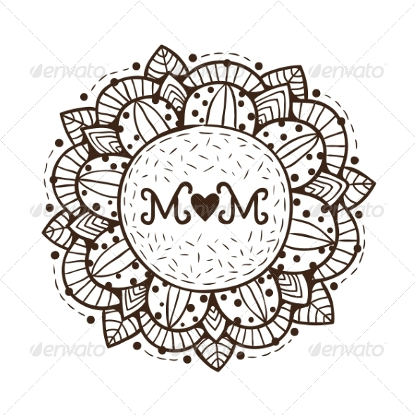 Happy Mother Day Design Element