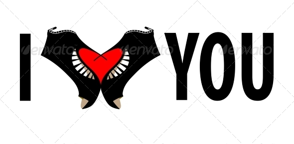 I Love You. Vector Lettering Stylish Text.