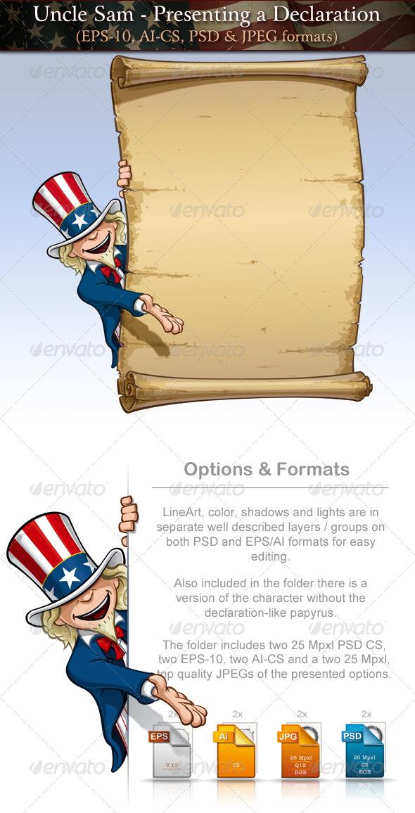 Uncle Sam - Presenting a Declaratio