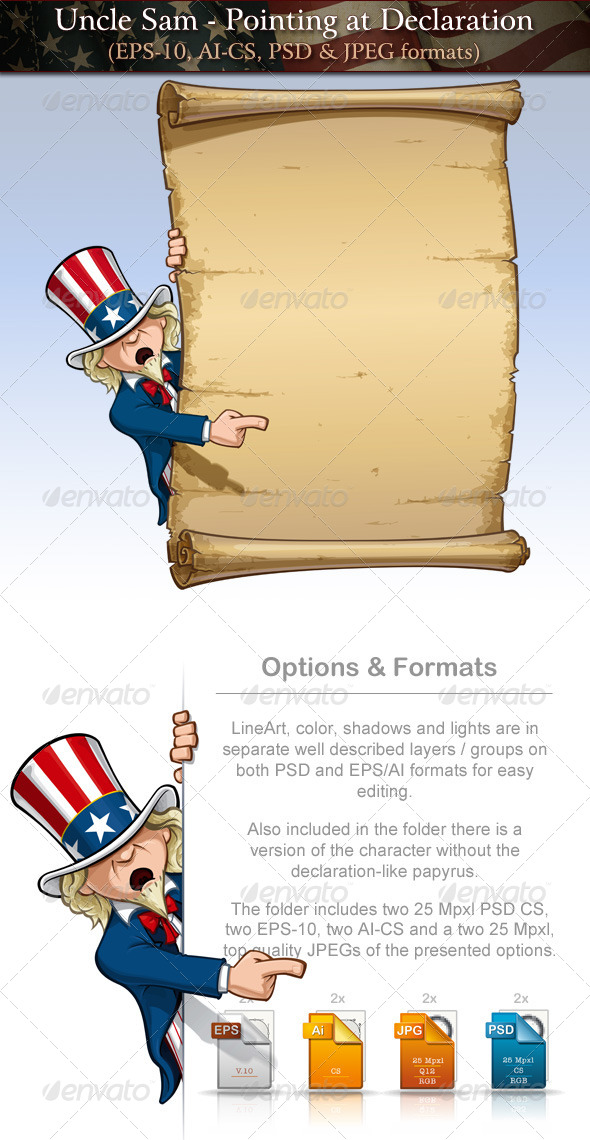 Uncle Sam - Pointing at Declaration