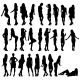 Set of Girl Silhouettes - GraphicRiver Item for Sale