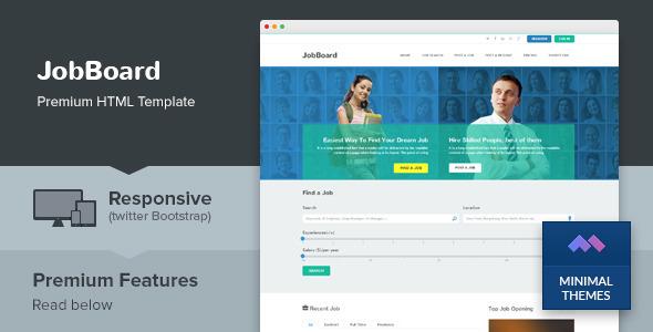 JobBoard - Responsive Job Market HTML Template
