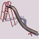 Old Playground Slide - 3DOcean Item for Sale