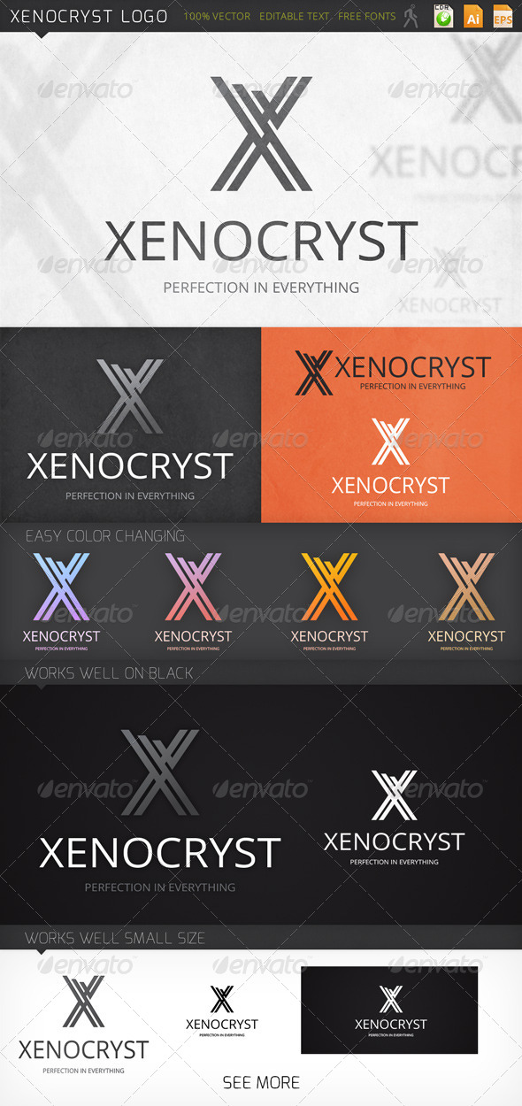 Xenocryst Letter X Logo Template