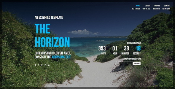 The Horizon || Responsive Coming Soon Page