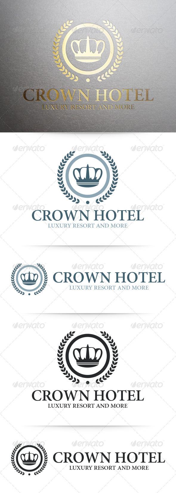 Crown Hotel Logo Template