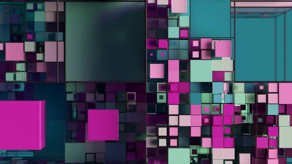 Abstract Background with Motion Cubes