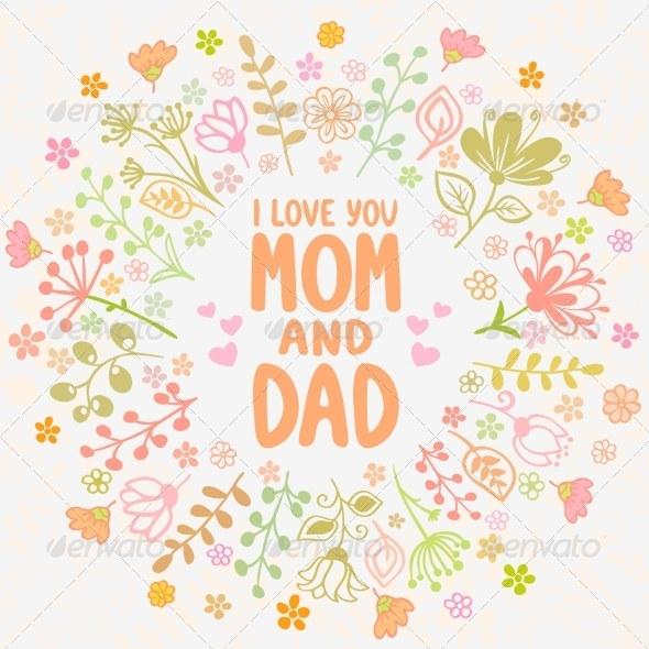 Card Mom and Dad