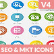 Flat SEO & Marketing Icons Pack 4 - GraphicRiver Item for Sale