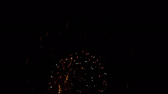 Bright Colorful Fireworks at City Day Festival
