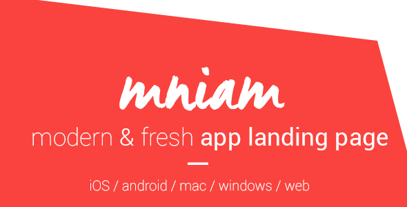 Mniam – Modern & Fresh App Landing Page