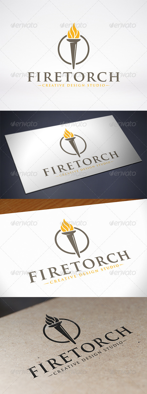 Torch Logo Template