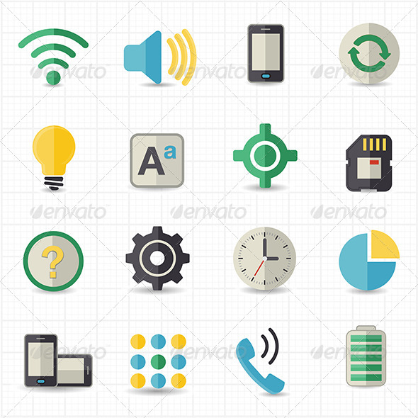 Mobile Setting and Toolbar Icons