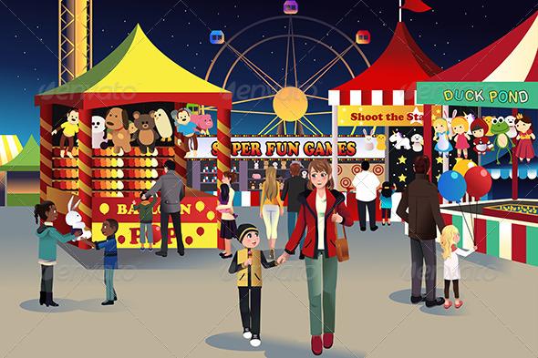 Night Outdoor Fair