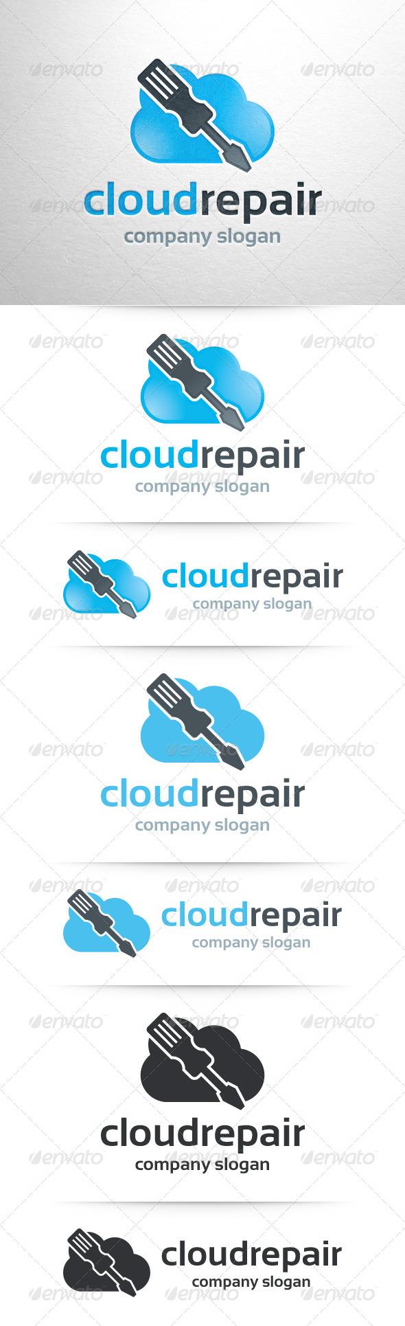 Cloud Repair Logo Template