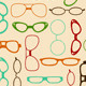 Seamless Retro Pattern with Glasses - GraphicRiver Item for Sale