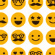 Seamless Pattern of Cheerful and Happy Smiles - GraphicRiver Item for Sale