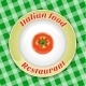 Plate with Title and Tomato - GraphicRiver Item for Sale