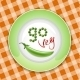 Green Plate with Vegetable Inscription - GraphicRiver Item for Sale