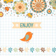 Summer, Flowers and Labels - GraphicRiver Item for Sale