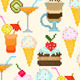 Seamless Pattern with Drinks and Dessert - GraphicRiver Item for Sale