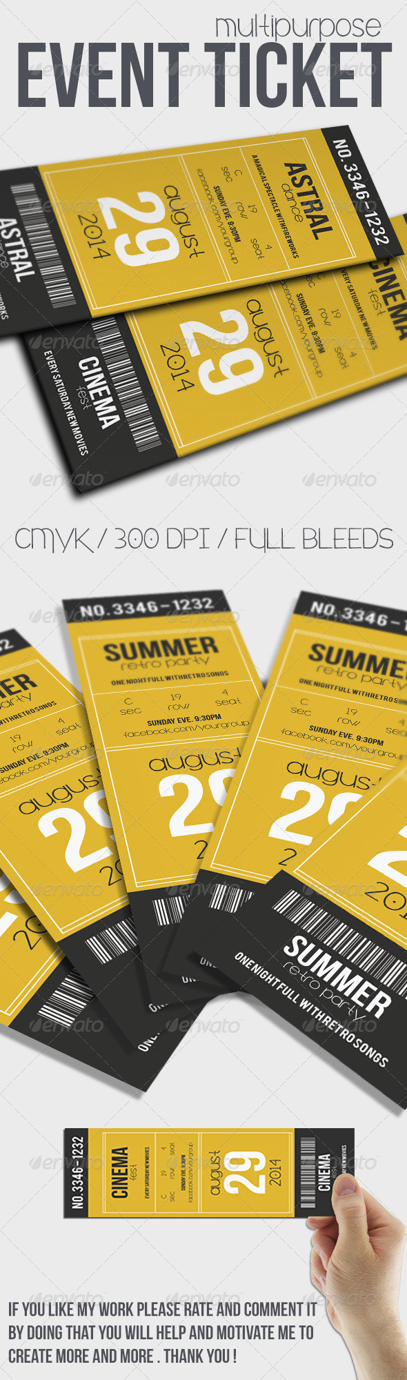 Modern Ticket Graphics, Designs & Templates from GraphicRiver
