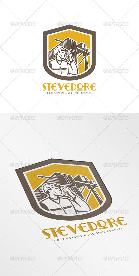 Stevedore Logistics Company Logo