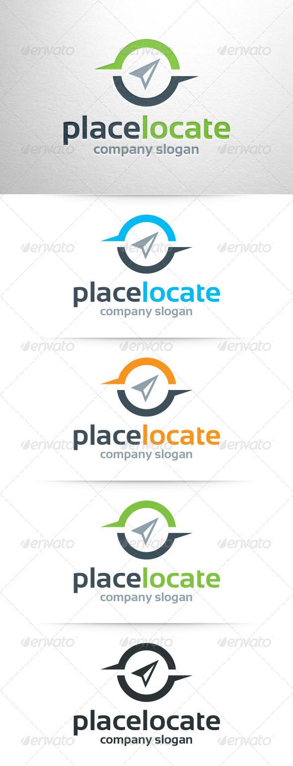 Place Locate Logo Template
