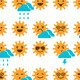 Set of Suns with Different Emotions - GraphicRiver Item for Sale