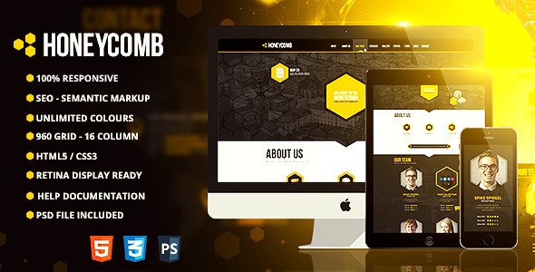 Honeycomb - Responsive One Page HTML5 Template