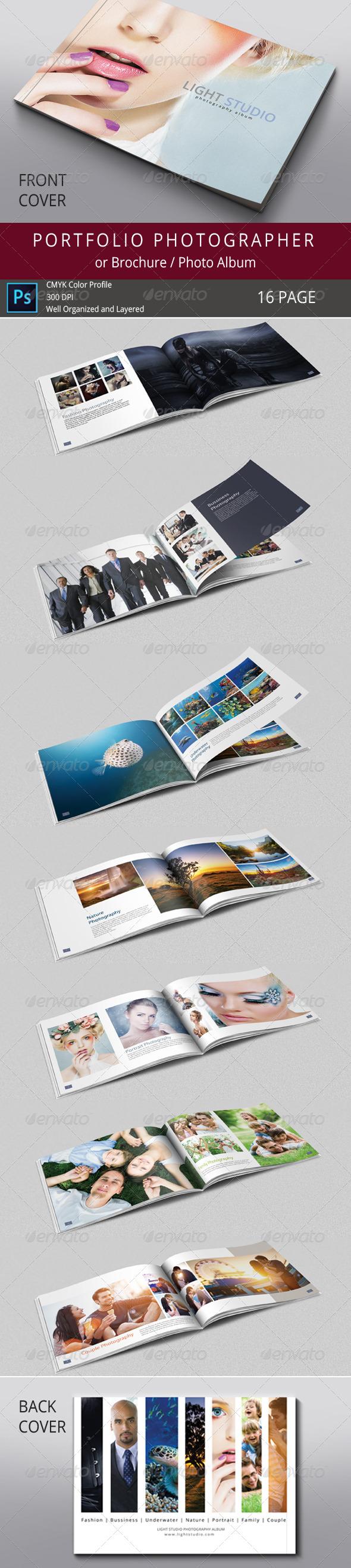 Photography and Portfolio Photo Album Templates