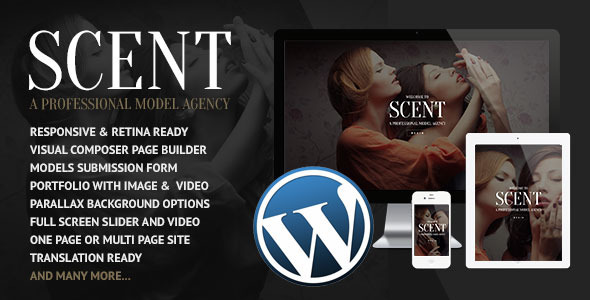 Scent - Model Agency WordPress Theme