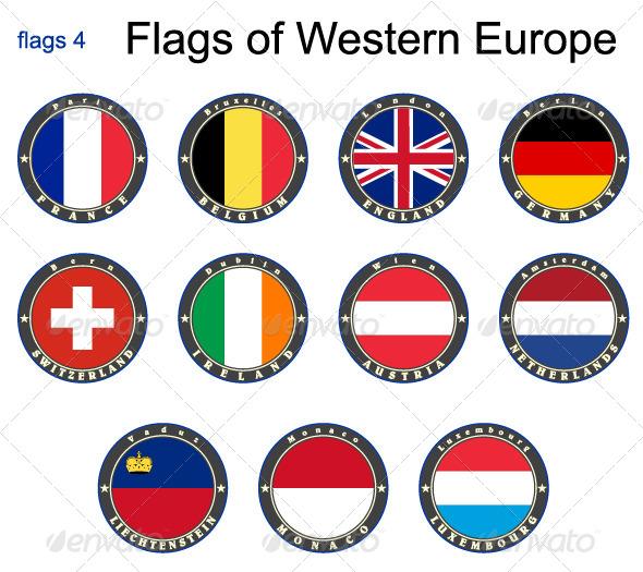 Flags of Western Europe