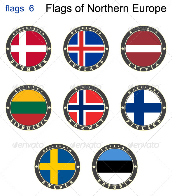 Flags of North Europe