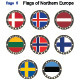 Flags of North Europe - GraphicRiver Item for Sale