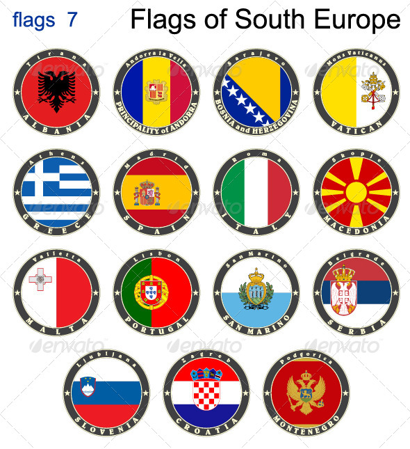 Flags of South Europe
