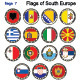 Flags of South Europe - GraphicRiver Item for Sale