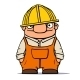 Cartoon worker, builder, plumber. Vector ill - GraphicRiver Item for Sale
